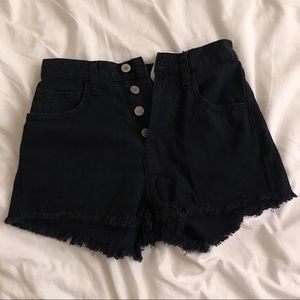 Brandy Melville Black Denim Shorts